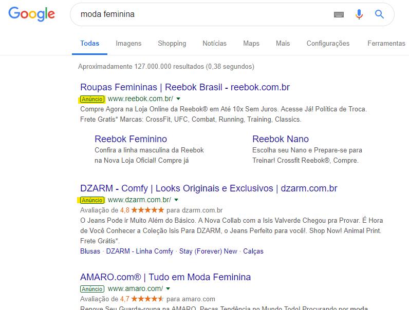 Rede de pesquisa do Google