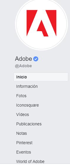 Adobe fanpage