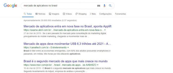 Mercado de aplicativos no Brasil