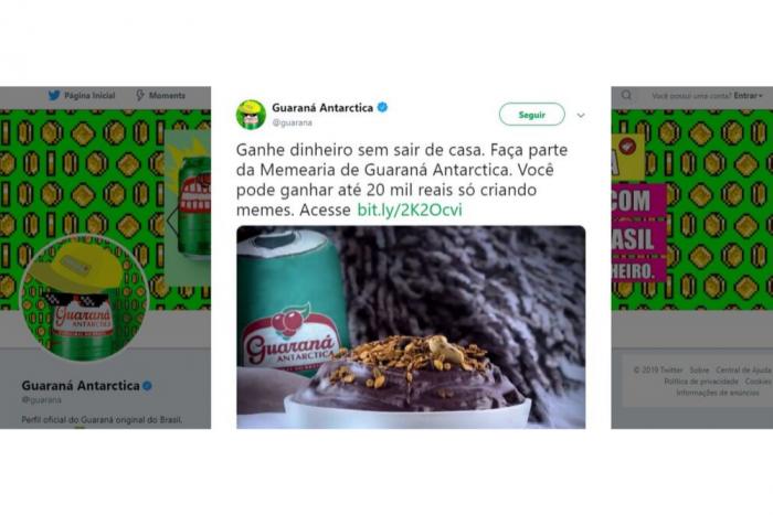 Página Guaraná Antarctica no Twitter