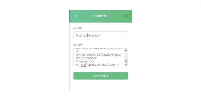 Colocando o código nas suas páginas