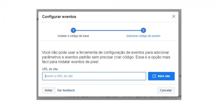 Ferramenta de Configurações de Eventos do Facebook