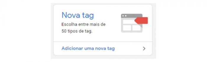 Adicione uma nova tag