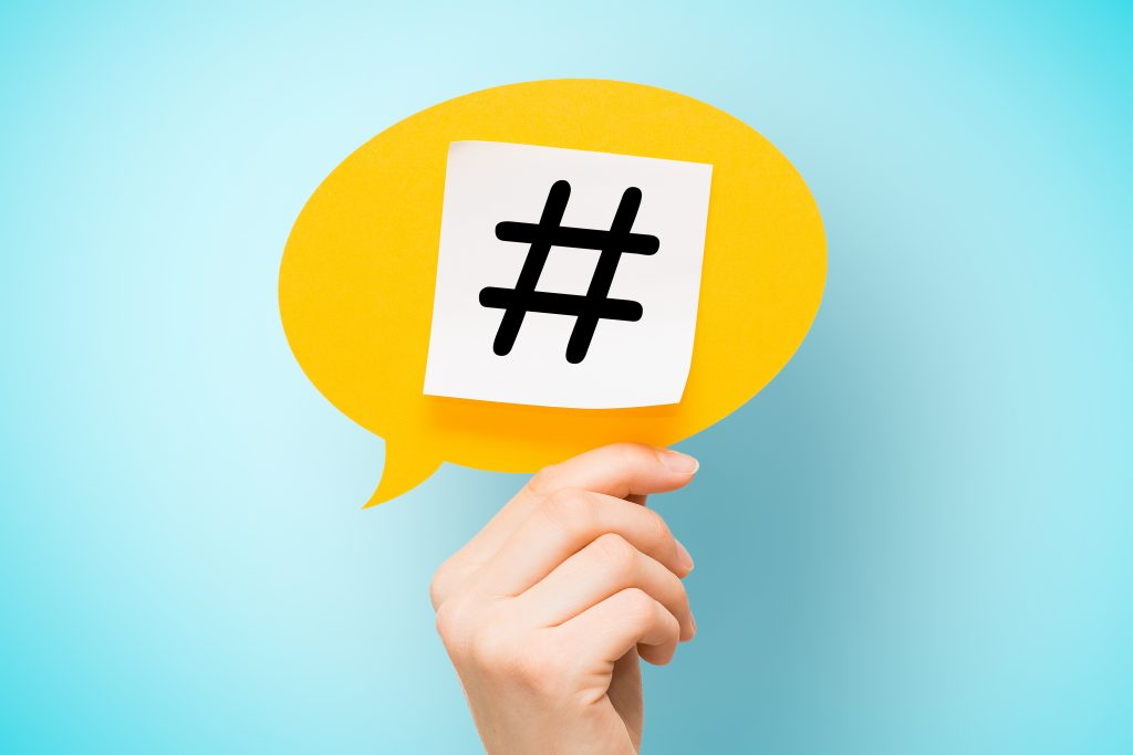 Hashtags interativas