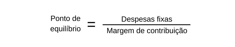 fórmula do break even point