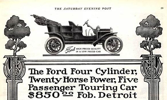 Primeiro anúncio da Ford