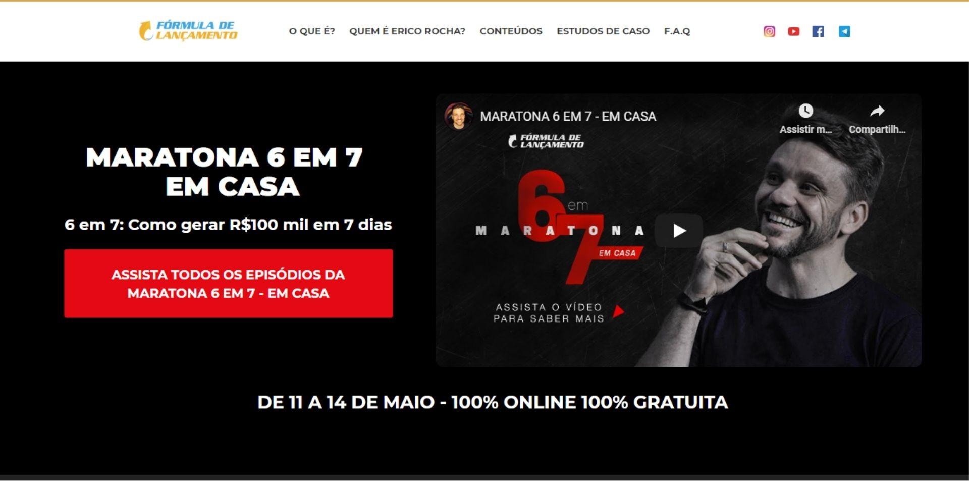 captura de lead na homepage da fórmula de lançamento