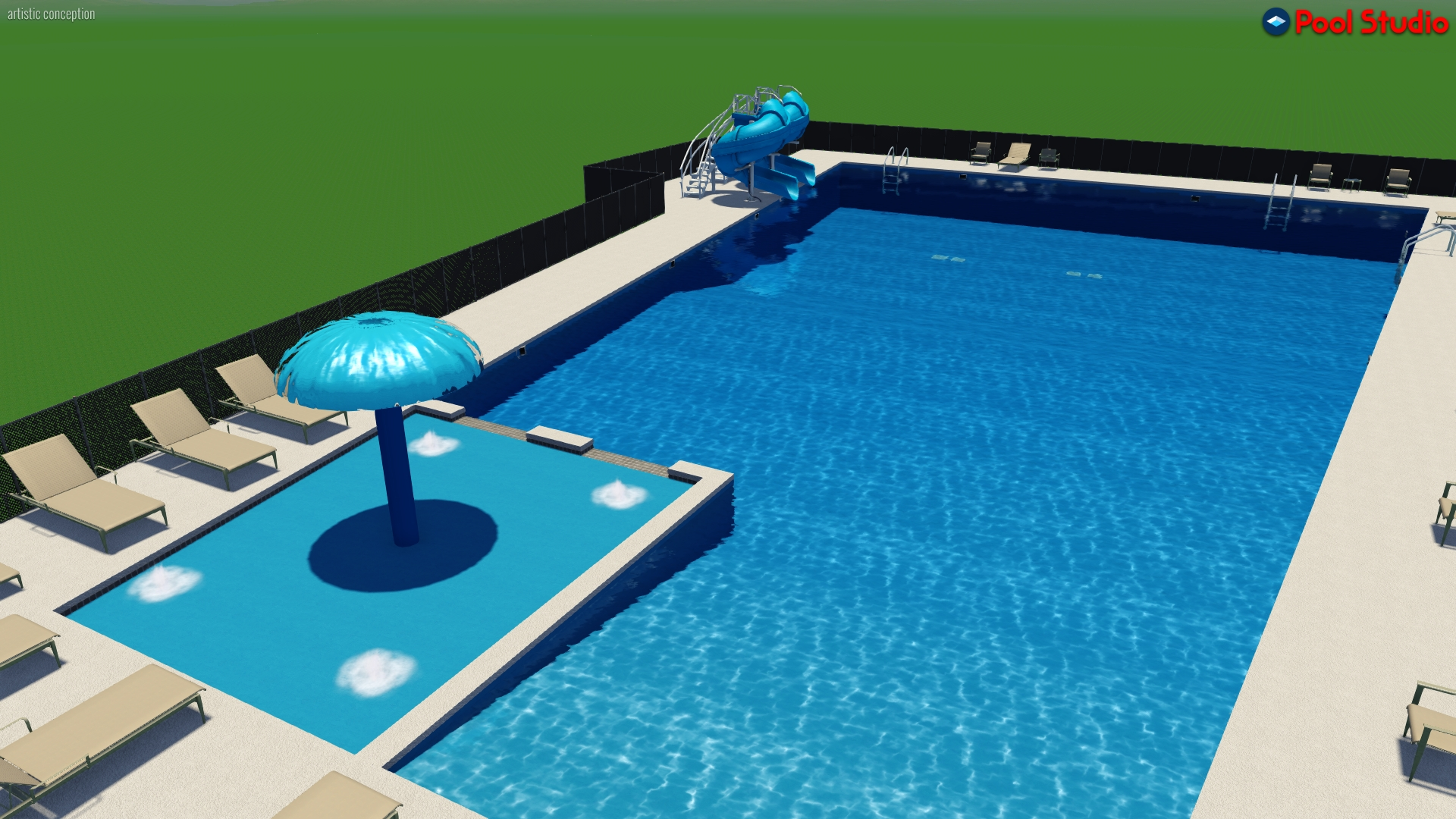 One proposed design of the new pool.