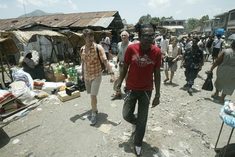 Ti-Bass and the When the Drum crew in Limbe, Haiti. Photo by D. Morel