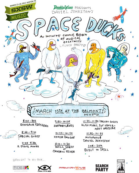 Daniel Johnston's SXSW Space Ducks comic book launch party