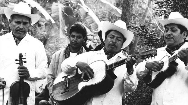 """Los Camperos de Valles, masters of the musical style """"son huasteco"""" of Ciudad Valles in Mexico."""