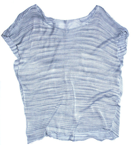 Project reward: Asymmetrical silk blouse.