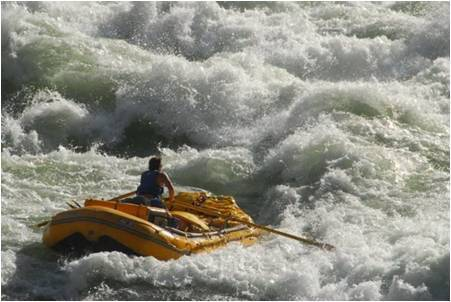 Pat Crowley, rafting the mighty Colorado