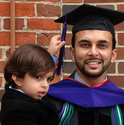 Hassan and I at law school graduation.