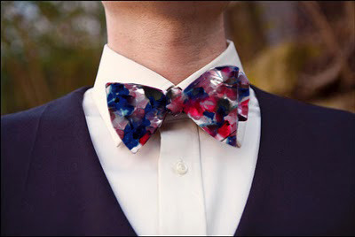 For a Fifity, we'll send you a reward for the gents. A sporty bow tie from one of our signature prints will look great with any blazer.