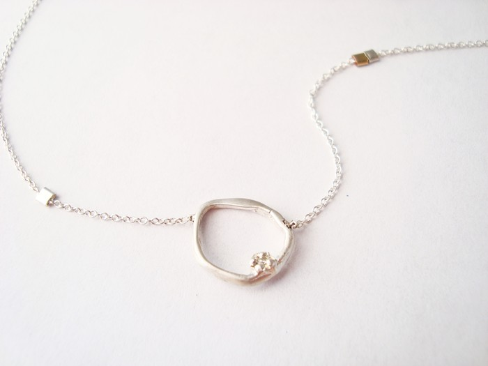 Divine Light necklace w/ 1.5mm diamond necklace - Sterling Silver. Pledge at $125, $850 level