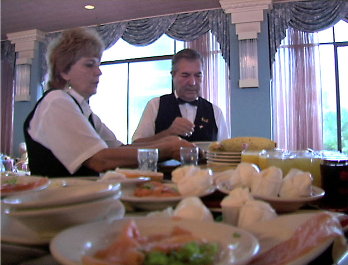 Film Still: Kutsher's Brother & Sister Waitstaff Team Vanil & Betty Colodetti