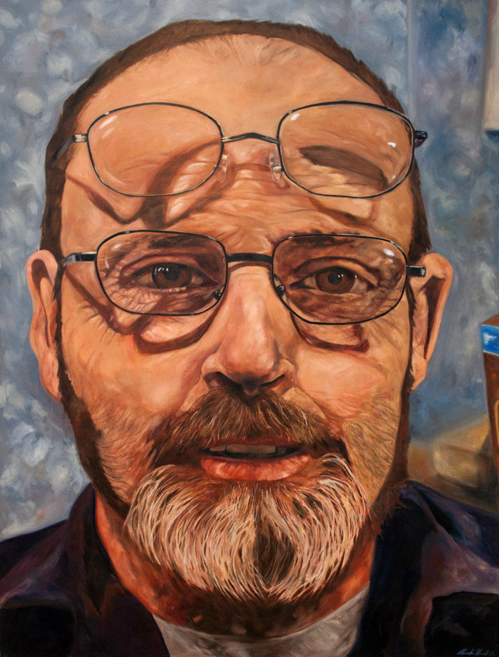 "Ed with Blue Collar BiFocals 74"" x 56"""