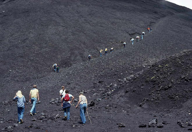 Climbing the Volcano, Overseas Missions Camp, Guatemala  1978