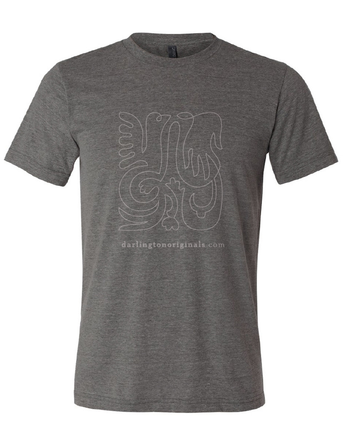 mens t-shirt: tri-blend, grey, modern fit, and soft