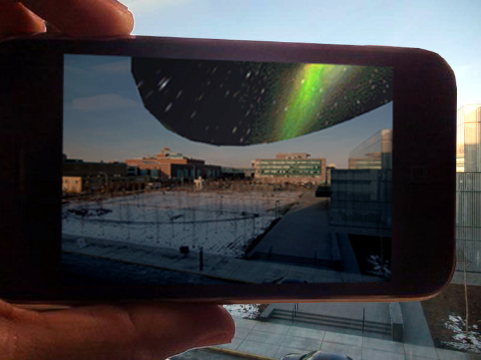 Augmented Borealises made in collaboration with the Virtual Public Art Project.