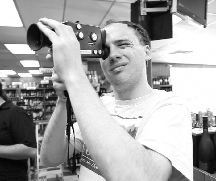 Co-Producer Dave Browns shoots Super 8