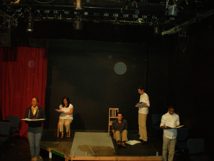 The first staged reading.
