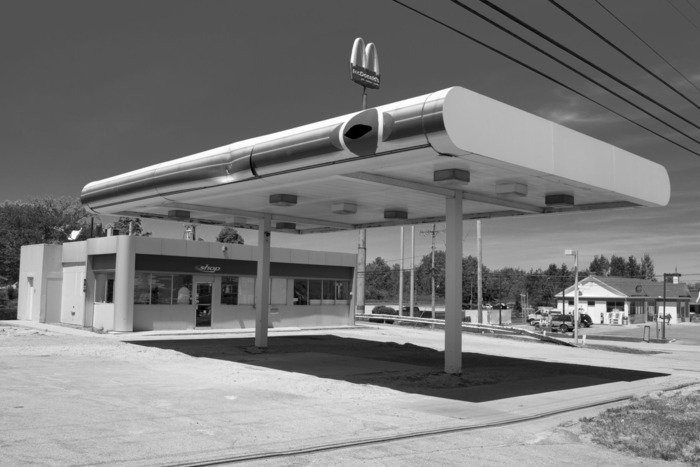 Abandoned gas station, Geneva, Ohio.