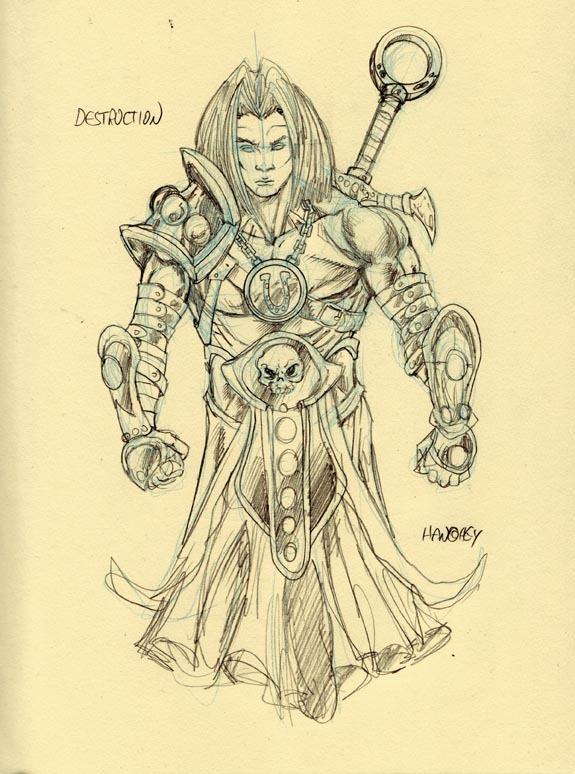 Character Sketch for Horseman Destruction