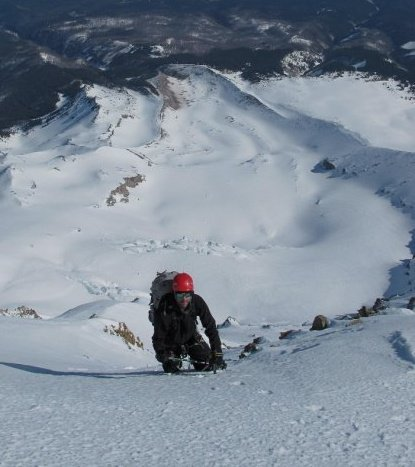 Climbing Cooper Spur on Mount Hood, OR