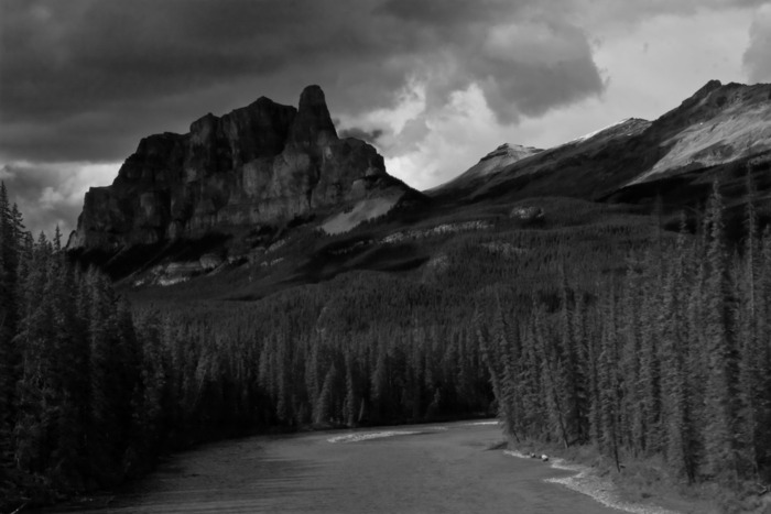 Castle Mountain near Lake Louise, AB