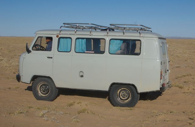 One of the trusty Russian fergon vans (photo from my 2006 trip to western Mongolia)