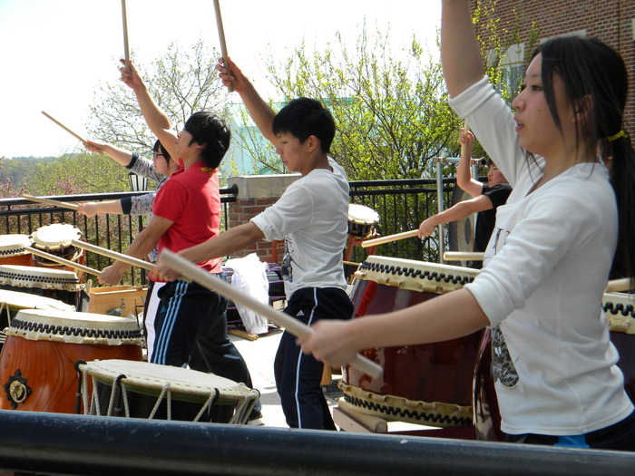 Yamakiya Taiko Club Rehearsal at St. Paul School