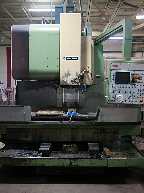 Our Mori Seiki MV50 CNC Mill