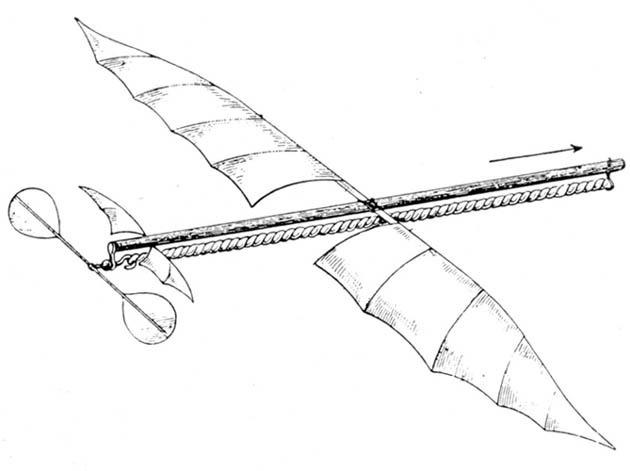 Planophore. Alphonse Pénaud 1871