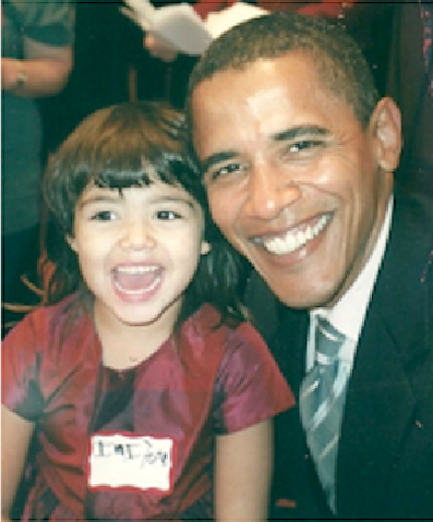 My little girl with then Senator Obama, Oct 2006