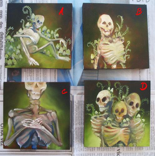 """4"""" x 4"""" paintings"""