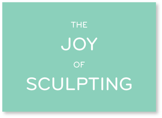 "THE JOY OF SCULPTING / 5"" x 7"" silkscreen print / Signed, numbered and hand-printed by Breanne. For pledges $25 & up!"