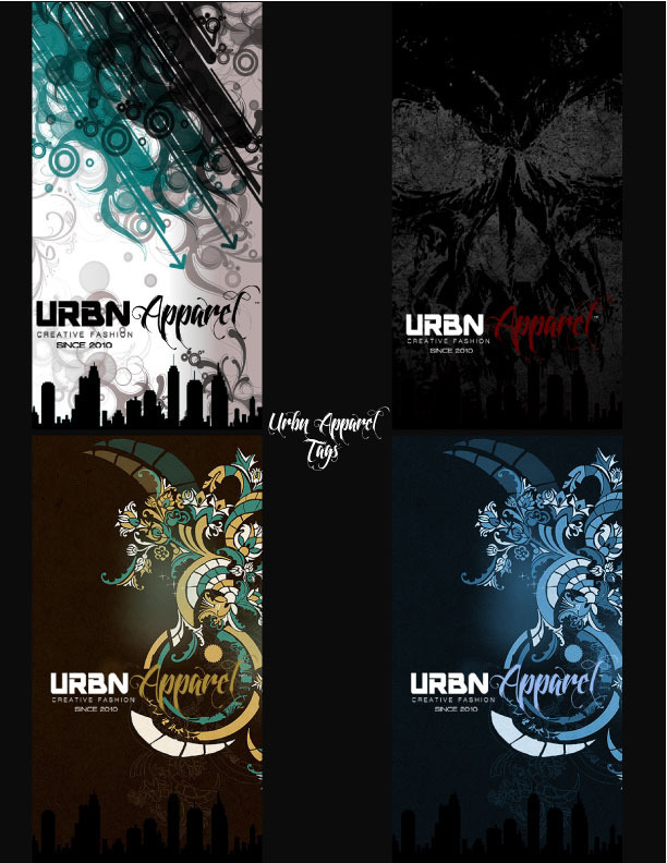 UrbnApparel tags, one comes with each UrbnApparel Hoodie