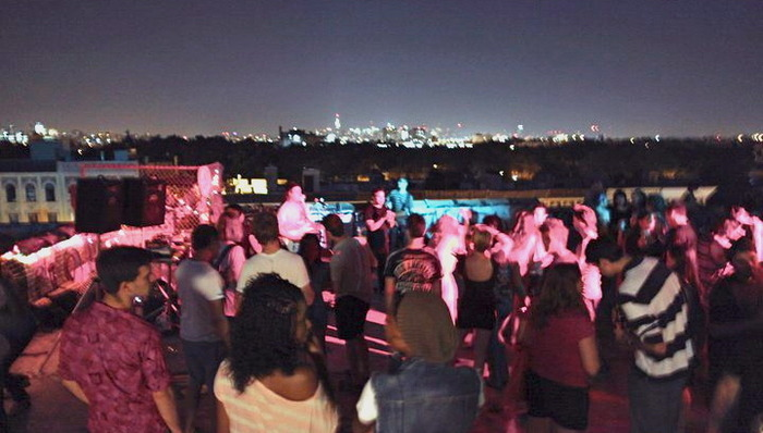 July 15, 2011 :: First show with the band on The Greenroom Brooklyn rooftop. Photo by Dylan Hess.