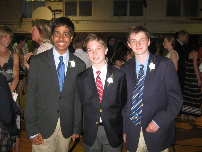 A picture of the young entrepreneurs  (left to right) Rohan, Hunter, and Joshua. Luke and Owen are not pictured.