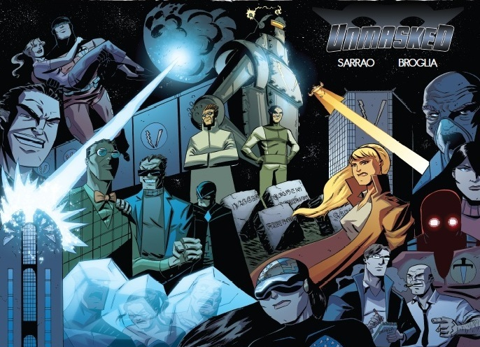 Unmasked:  The New Age Heroes (wrap around cover)