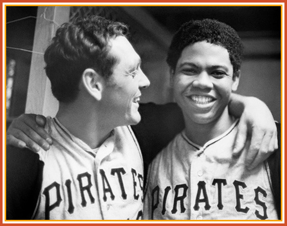 Dock and catcher Jerry May celebrate the no hitter.