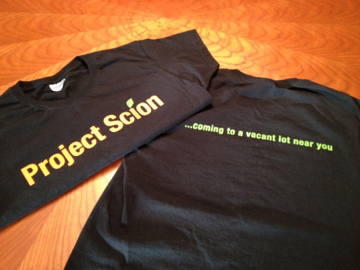 Kickstart at the $25 Level for one of our Project Scion T-shirts!