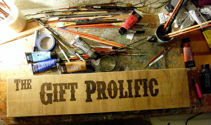 Making of the first Gift Prolific Gallery Sign.