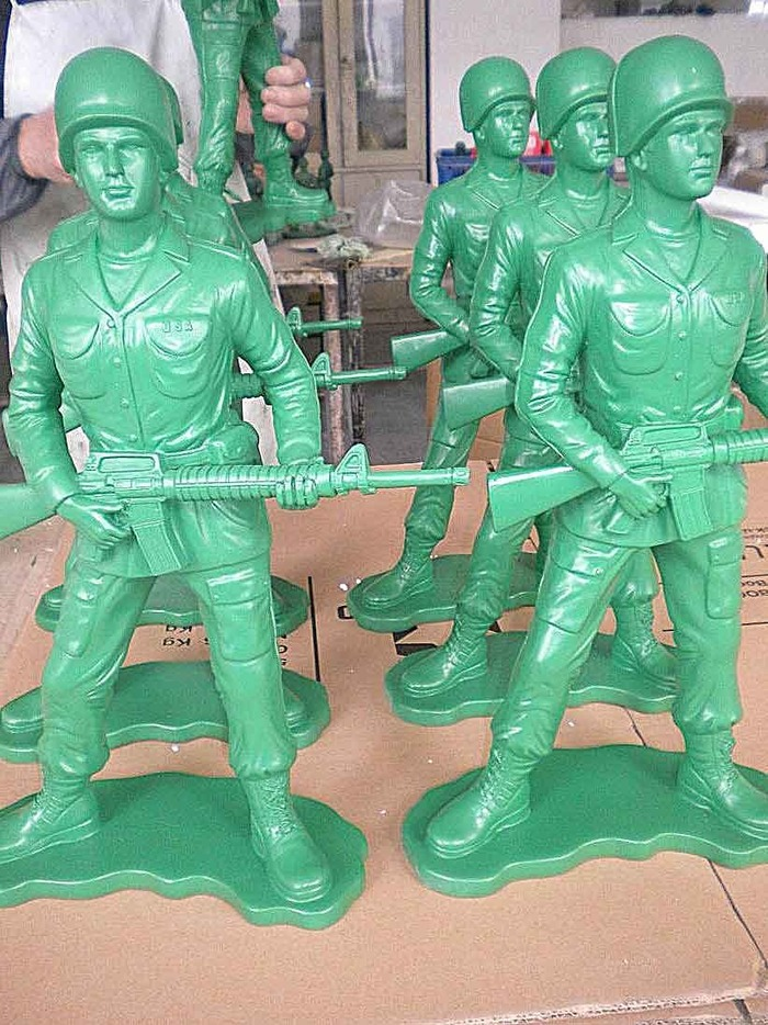 Giant Toy Soldiers in production from GreatBigStuff