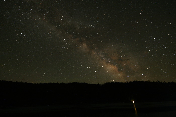 The Milky Way over Pinecrest Lake