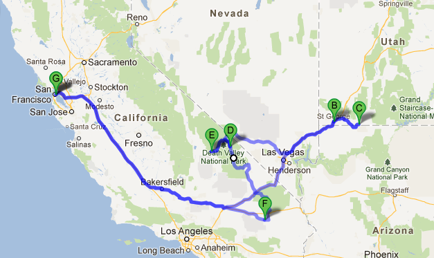 The Dark Sky Tour Route