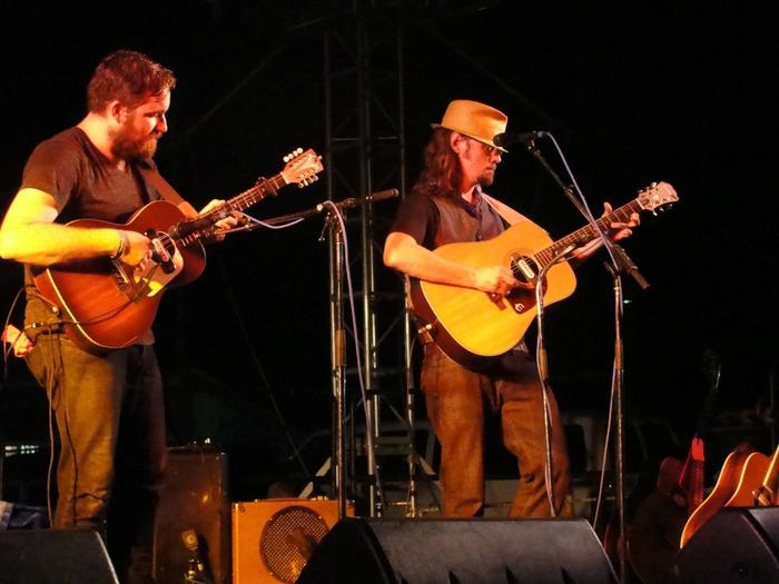 Performing with Luther Dickinson of The North Mississippi Allstars at DelFest 2012