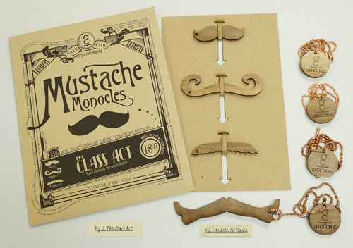 The Class Act Mustache Package